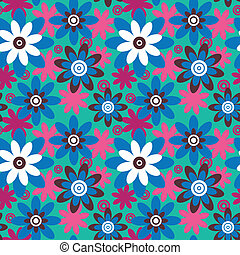 Seamless colourfull flower pattern