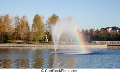 Water Fountain - Photo of a water fountain complete with...