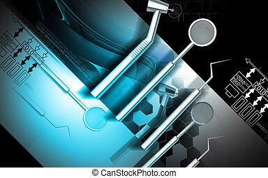Dental equipment - Digital illustration dental equipment in...