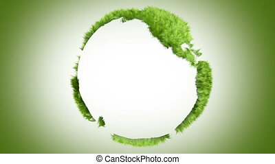 Green world made of grass