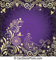 Vintage gold-violet frame - Vintage violet frame with gold...