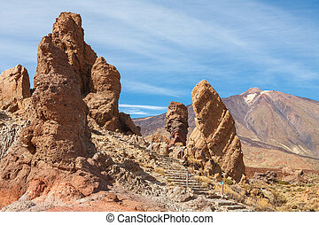 Teide National Park Tenerife Canary Islands - Los Roques de...