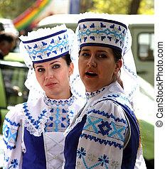 Belorussian singer - STANITSA LUGANSKAYA, UKRAINE -...
