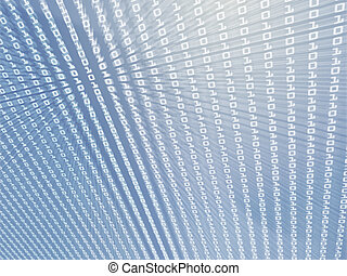 Digits data abstract illustration - Illustration of data...