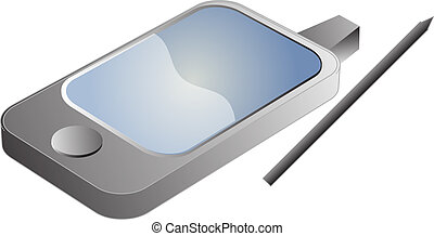 PDA phone illustration - PDA Phone illustration in 3d...