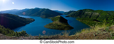 Kardjali lake Bulgaria - high view of Kardjali lake Bulgaria...