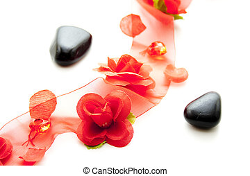 Decoration for special occasion with red flower