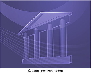 Grand building with pillars illustration - Illustration ofa...