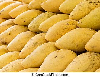 Closeup group of mango