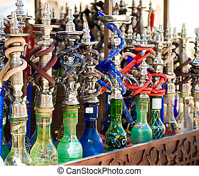 Hookah in souvenir shop at UAE
