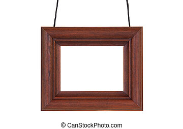 Photographic frame with cord - Wooden photographic frame...