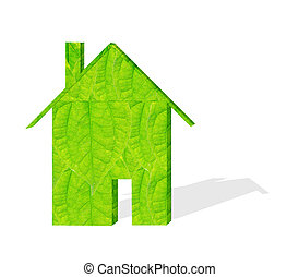 Green building models - Housing models of green leaves...