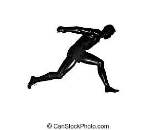 Runner silhouette - Runner mannequin silhouette isolated...