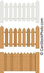 wooden fence set of vector illustration EPS10. Transparent...