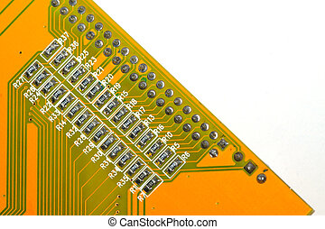 printed circuit boards - close up of printed circuit boards