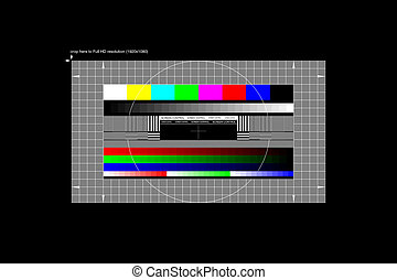 Full HD test pattern. Illustration needs to be cropped to...