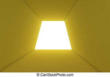empty room of light