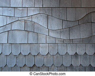 wood siding - detailed wood siding in a random patter