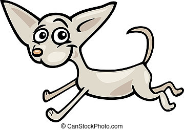 running chihuahua cartoon illustration - Cartoon...