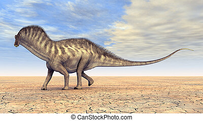 Dinosaur Amargasaurus - Computer generated 3D illustration...