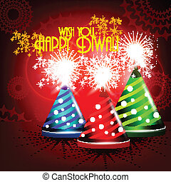 Colorfull crackers in shiny glowing red color for diwali card design.