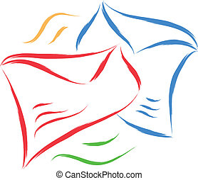 envelope sketch - envelope vector abstract sketch