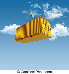 Shipping Container - High quality 3D render shipping...