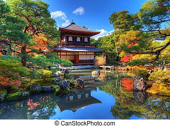 Ginkaku-ji Temple in Kyoto - Ginkaku-ji, known as Temple of...