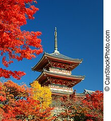 Kiyomizu-dera Pagoda in Kyoto - November 19: The pagoda of...