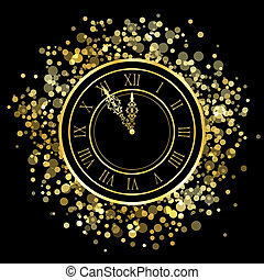 New Year Clock - Vector shiny New Year Clock