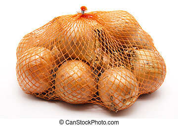 Fresh onions in Net  - Fresh onions in Net