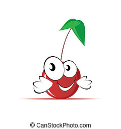 sweet and cute cherry vector illustration