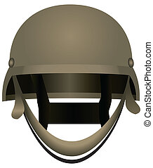 Modern combat helmets. Military equipment. Vector...
