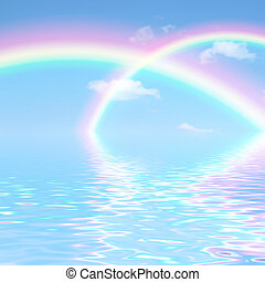 Double Rainbow Fantasy - Fantasy abstract of double rainbows...