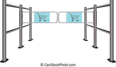Turnstile for shopping carts - Turnstile to travel with...