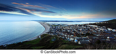 Chesil beach at sunset - Sunset Chesil Beach Fortuneswell...