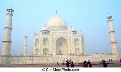 Taj Mahal in Agra India -  timelapse in motion