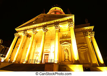 The Deutscher Dom in Berlin - Night shot of the Deutscher...