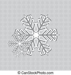Abstract winter snowflakes design