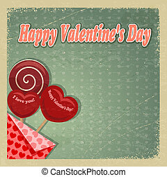 Retro card for Valentine's Day. eps10