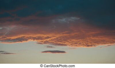 Dramatic Sunset Sky, Timelapse - Sunset clouds timelapse...