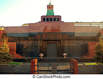 Lenins Tomb or Mausoleum in Red SquareKremlin Moscow - The...