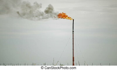 Burning of associated gas - Combustion of natural gas...