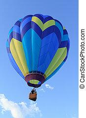 hot air balloon over blue sky
