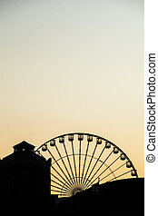 ferris wheel at sunset