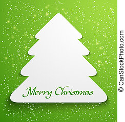 Green christmas tree applique