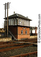 Railway Signal Box at Boness, Scotland