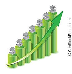 Money Icon Color Graph