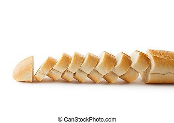 Fresh sliced baguette