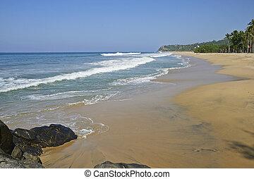 Tranquil Mexican Pacific Ocean beach - Mexican Pacific Ocean...